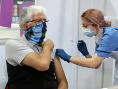 A total of 1.6 million people have been given their first dose of the coronavirus vaccine in Scotland (Andrew Milligan/PA)