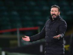 Derek McInnes' Aberdeen were held by struggling Hamilton (Andrew Milligan/PA)