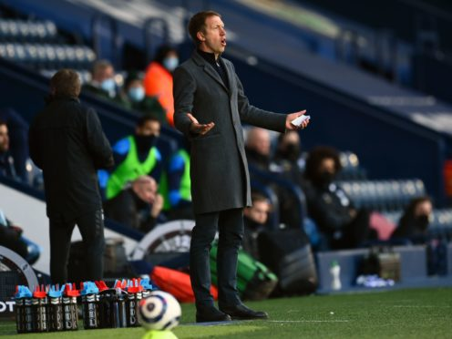 Graham Potter's Brighton lost a chaotic match at West Brom (Clive Mason/PA)
