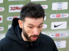 Huddersfield Town manager Carlos Corberan speaks to the media after the Sky Bet Championship match at Deepdale, Preston. Picture date: Saturday February 27, 2021.