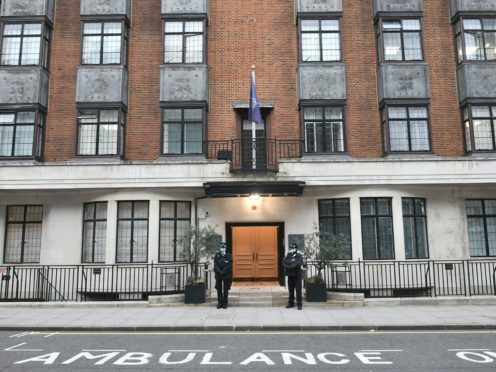 The Duke of Edinburgh has been moved back to the private King Edward VII's Hospital in London (Aaron Chown/PA)