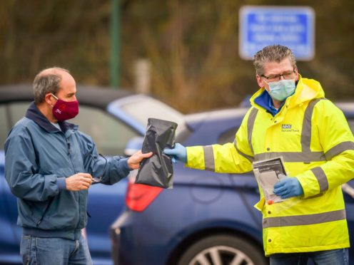 Surge testing in Stoke Gifford after two cases of the Brazilian variant of coronavirus were identified in South Gloucestershire (Ben Birchall/PA)
