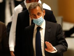 Former French president Nicolas Sarkozy (AP/Michel Euler)