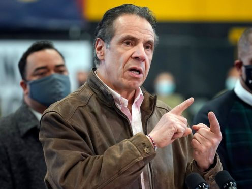 A third woman has accused New York Governor Andrew Cuomo of offensive behaviour (Seth Wenig/Pool/AP)