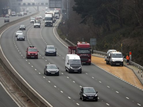 Smart motorway safety is back in the spotlight as a widow is calling for Highways England to be investigated over the death of her husband (Steve Parsons/PA)