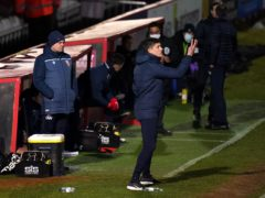 Stevenage manager Alex Revell insists there is work to be done despite victory over Harrogate (John Walton/PA)