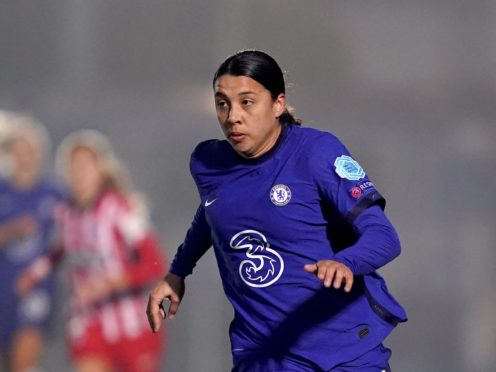 Sam Kerr, pictured, helped Chelsea move back to the top of the Women's Super League (John Walton/PA)