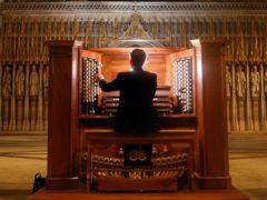 Robert Sharpe plays the Grand Organ at York Minister following its £2 million refurbishment (Danny Lawson/PA)