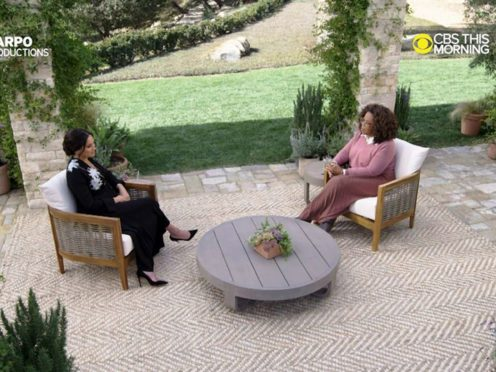 The Duchess of Sussex in conversation with Oprah Winfrey (Harpo Productions/PA)
