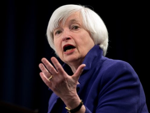 Federal Reserve Chair Janet Yellen speaking during a news conference (Carolyn Kaster/AP)