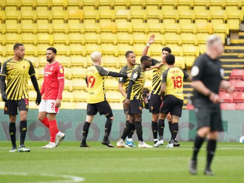 Watford's Adam Masina sealed the clash against Forest (Tess Derry/PA)