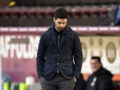 Mikel Arteta was left frustrated as Arsenal were held to a draw at Burnley (Peter Powell/PA)
