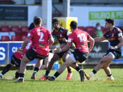 Saracens' Elliott Obatoyinbo in action against Cornish Pirates (Simon Galloway/PA)