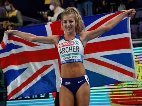 Holly Archer had a nervous wait before being reinstated as winner of the silver medal in the women's 1500 metres (Darko Vojinovic/AP)
