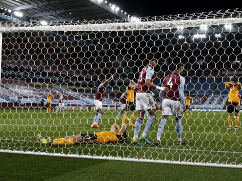 Romain Saiss missed Wolves' best chance in their draw at Aston Villa. (Peter Cziborra/PA)