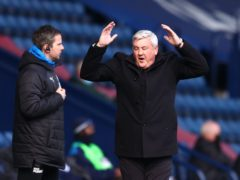 Newcastle boss Steve Bruce saw his side draw at West Brom. (Michael Steele/PA)