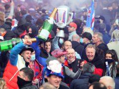 Rangers fans are celebrating the club's Scottish Premiership title triumph (Jane Barlow/PA)