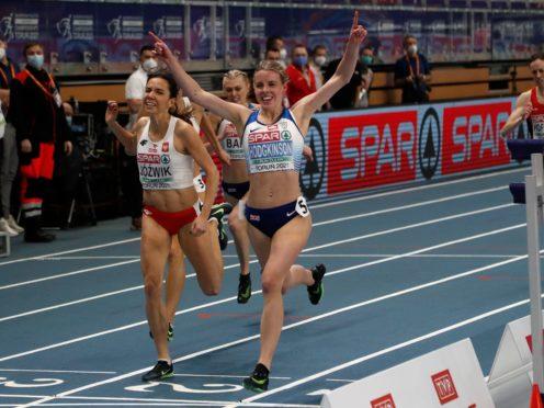Keely Hodgkinson clinched gold for Great Britain in Torun (Darko Vojinovic/AP)
