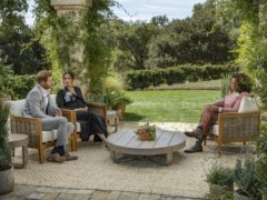 The Duke and Duchess of Sussex during their interview with Oprah Winfrey (Joe Pugliese/Harpo Productions)