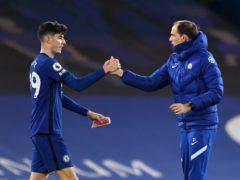 Chelsea boss Thomas Tuchel (right) saw fellow German Kai Havertz impress against Everton (Glyn Kirk/PA)