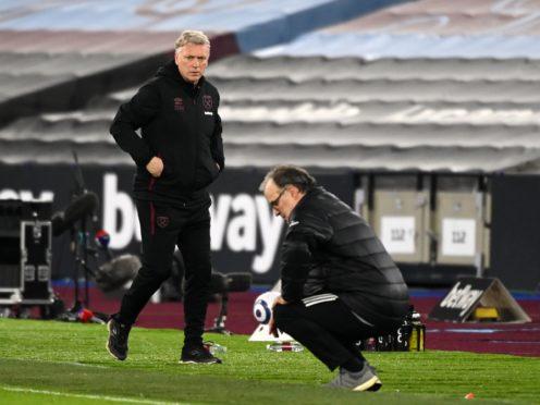 David Moyes's West Ham beat Marcelo Bielsa's Leeds (Andy Rain/PA)