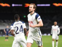 Harry Kane scored twice as Spurs beat Dinamo Zagreb (Neil Hall/PA)