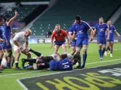 Maro Itoje scores the winning try (David Davies/PA)