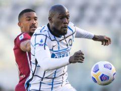 Romelu Lukaku and Torino's Bremer Gleison vie for the ball (Fabio Ferrari/LaPresse via AP)