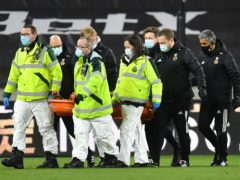Wolves are optimistic about keeper Rui Patricio's recovery after he was knocked out during the Premier League match with Liverpool (Paul Ellis/PA Images).