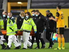 Wolves goalkeeper Rui Patricio had to be carried off on a stretcher after suffering a head injury (Paul Ellis/PA)