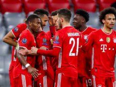 Bayern's Eric Maxim Choupo-Moting celebrates his goal against Lazio. (Matthias Schrader/AP)