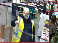 Paul Robson on CCTV at a service station on the M74 (CPS/PA)