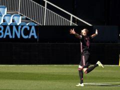 Real Madrid's Karim Benzema celebrates after scoring (Lalo R. Villar/AP)