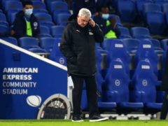 Steve Bruce's Newcastle lost at Brighton (Clive Rose/PA)