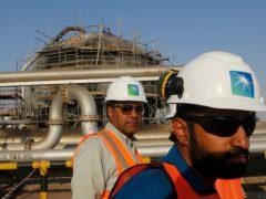 Saudi Aramco announced on Sunday that its profits in 2020 had fallen to 49 billion dollars (£35 billion) as the coronavirus pandemic roiled global energy markets (Amr Nabil/AP)