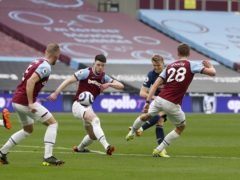 Martin Odegaard, second right, impressed against West Ham (Paul Childs/PA)