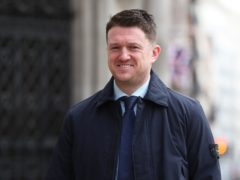 Tommy Robinson at the Royal Courts of Justice (Jonathan Brady/PA)