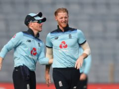 Ben Stokes took three wickets, but there is an injury concern to Eoin Morgan (Rafiq Maqbool/AP)