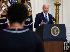 President Joe Biden speaks during a news conference (Evan Vucci/AP)