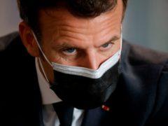 French President Emmanuel Macron (Ludovic Marin, Pool via AP)