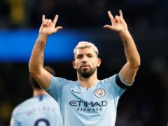 Sergio Aguero will leave Manchester City in the summer (Martin Rickett/PA)