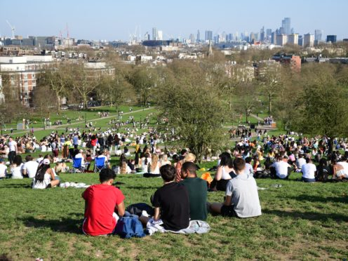 Forecasters say there's a 10% chance the UK could bask in its hottest March day on record on Wednesday (Ian West/PA)