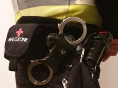 A Naloxone pouch on a police officer's utility belt (Police Scotland/PA)