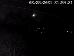 The Meteor was captured on many secutiry cameras across the UK but could be viewed as a far as the Netherlands (@JillHemingway/Twitter)