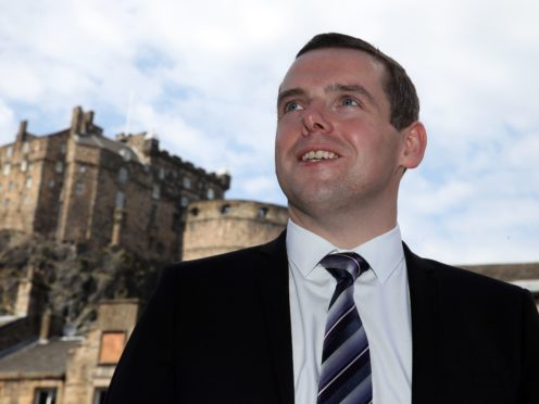 Scottish Conservative leader Douglas Ross said while the PM would have a 'role' in the election campaign, Boris Johnson was not running for Holyrood. (Andrew Milligan/PA)