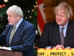 Boris Johnson, pictured in 2019 and 2021, says he is 'full of beans' after losing some weight (Dominic Lipinski//PA and Leon Neal/PA)