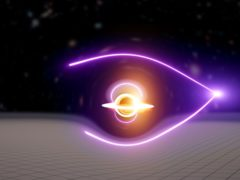 The new black hole was found through the detection of a gravitationally-lensed gamma-ray burst (Carl Knox/OzGrav/PA)
