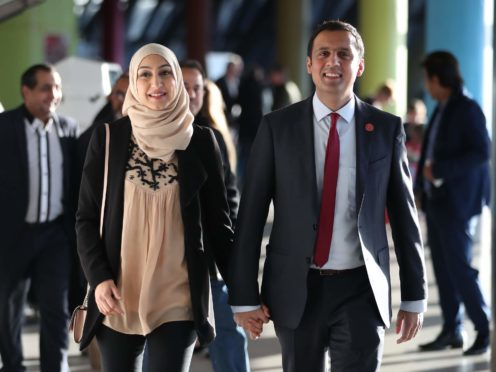 Scottish Labour leader Anas Sarwar was challenged on the decision he and his wife made to send their children to private school (Jane Barlow/PA)