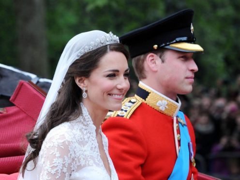 William and Kate on their wedding day (Owen Humphreys/PA)