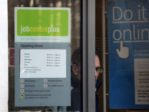 There has been a slight rise in the employment rate (Anthony Devlin/PA)